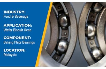 Case study: Uniflor 4622R-FG, giảm tra mỡ cho lò nướng dây chuyền sản xuất bánh kem xốp